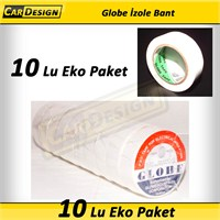 CRD Globe 19 mm İzole Bant BEYAZ 10 lu Eko Paket (Orijinal )