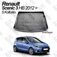 Automix Renault Scenic 3 Hb Bagaj Havuzu Paspası 5 Koltuk 2012-> Sonrası