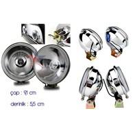 ModaCar Krom Yüzeyli Beyaz Camlı Sis Lambası Seti 501407B