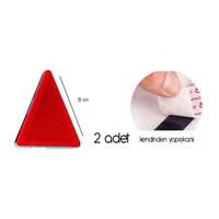 ModaCar Kırmızı Üçgen Reflektör 411203