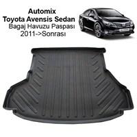 Automix Toyota Avensis Sedan Bagaj Havuzu Paspası 2009->Sonrası Siyah