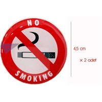 ModaCar Sigara İçilmez Sticker 2 Adet 061175