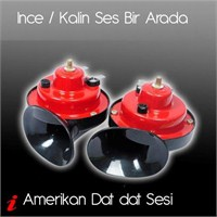 U&C Amerikan Tip Da-Dat Sesli İNCE/KALIN Korna Set 90b025