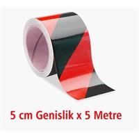 Modacar Kırmızı/Siyah Çarpraz Fosfor Bant 540030