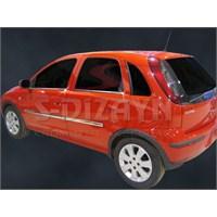 S-Dizayn Opel Corsa C Cam Çıtası 4 Prç. P.Çelik (2000>)