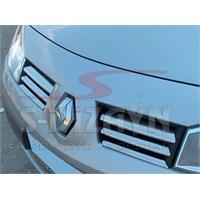 S-Dizayn Renault Megane-II Ön Panjur 6 Prç. P.Çelik HB & SEDAN (2004-2005)