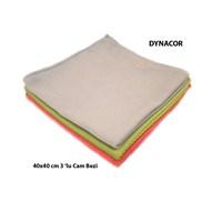Dynacor 40x40 cm Mikrofiber 3'lü Set Cam Bezi 20244