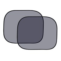 Autokit Yan cam perde 2'li siyah