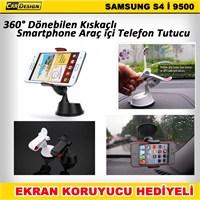 CRD Samsung Galaxy S4 Kıskaçlı Araç İçi Telefon Tutacağı (360° Dönebilir)