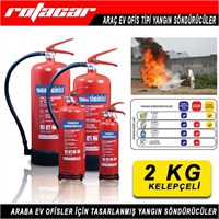 2 Kg Yangın Söndürme Cihazı-Askı Aparatlı (4 Yıl Ürün ve Dolum Garanti Süresi)