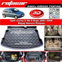 Opel Corsa C Hb 5 Kapı 2001 2006 Bagaj Havuzu Paspası BG0135