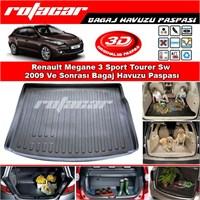 Renault Megane 3 Sport Tourer Stw 2009 Ve Sonrası Bagaj Havuzu Paspası BG0154