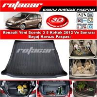 Renault Yeni Scenic 3 5 Koltuk 2012 Ve Sonrası Bagaj Havuzu Paspası BG0157