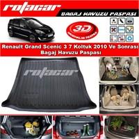 Renault Grand Scenic 3 7 Koltuk 2010 Ve Sonrası Bagaj Havuzu Paspası BG0158