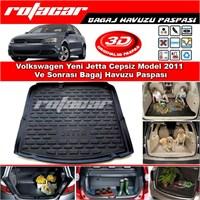Volkswagen Yeni Jetta Cepsiz Model 2011 Ve Sonrası Bagaj Havuzu Paspası BG0190