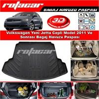 Volkswagen Yeni Jetta Cepli Model 2011 Ve Sonrası Bagaj Havuzu Paspası BG0191