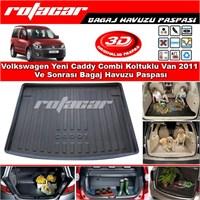 Volkswagen Yeni Caddy Combi Koltuklu Van 2011 Ve Sonrası Bagaj Havuzu Paspası BG0194