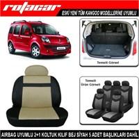 Renault Kangoo Koltuk Kılıfı Bej Siyah Kket012