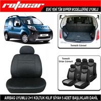Peugeot Bipper Koltuk Kılıfı Siyah Kket007