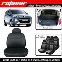 Peugeot Partner Koltuk Kılıfı Siyah Kket004