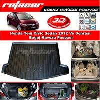 Honda Yeni Civic Sedan 2012 Ve Sonrası Bagaj Havuzu Paspası BG068