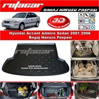 Hyundai Accent Admire Sedan 2001 2006 Bagaj Havuzu Paspası BG094