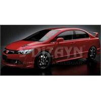 S-Dizayn Honda Civic Cam Çıtası 6 Prç. P.Çelik (2006-2012)