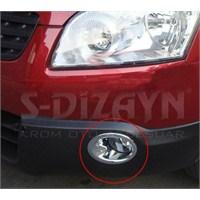 S-Dizayn Nissan Qashqai Sis Farı Çerçevesi 2 Prç. Abs Krom (2010>)