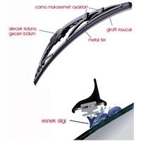 ModaCar 28 cm METAL TEL Destekli Silecek Süpürgesi 47a200
