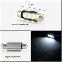ModaCar 3 LED 9 Chip li 36 mm Sofit Ampülü SOĞUTMALI 01c144