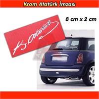 AutoCet ATATÜRK İmza Aliminyum, Krom Sticker 3233a