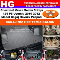 Chevrolet Cruze Sedan 124Ps 2010 2012 Gri Bagaj Havuzu Paspası 38658