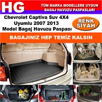 Chevrolet Captiva 2007 2013 Siyah Bagaj Havuzu Paspası 38661