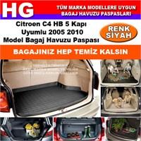 Citroen C4 2005 2010 Siyah Bagaj Havuzu Paspası 38684