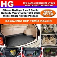 Citroen Berlingo 1-2 Koltuklu 1998 2008 Siyah Bagaj Havuzu Paspası 38685