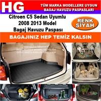 Citroen C5 2008 2013 Siyah Bagaj Havuzu Paspası 38702