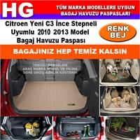 Citroen C3 İnce Stepneli 2010 2013 Bej Bagaj Havuzu Paspası 38705