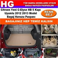 Citroen C-Elysee 2012 2013 Bej Bagaj Havuzu Paspası 38713