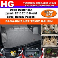 Dacia Duster 4X4 2010 2013 Gri Bagaj Havuzu Paspası 38726