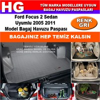 Ford Focus 2 Sedan 2005 2011 Gri Bagaj Havuzu Paspası 38769