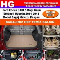 Ford Focus 3 Hb Kalın Stepne 2011 2013 Bej Bagaj Havuzu Paspası 38788