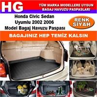 Honda Civic 2002 2006 Siyah Bagaj Havuzu Paspası 38808