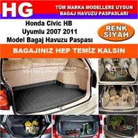 Honda Civic Hb 2007 2011 Siyah Bagaj Havuzu Paspası 38814