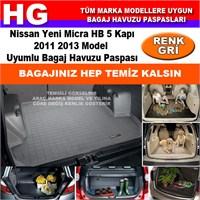 Nissan Yeni Micra 2011 2013 Gri Bagaj Havuzu Paspası 38938