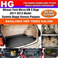 Nissan Yeni Micra 2011 2013 Siyah Bagaj Havuzu Paspası 38939