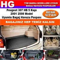 Peugeot 307 Hb 2001 2008 Siyah Bagaj Havuzu Paspası 38980