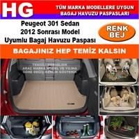 Peugeot 301 2012 Sonrası Bej Bagaj Havuzu Paspası 38991
