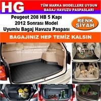 Peugeot 208 Hb 2012 Sonrası Siyah Bagaj Havuzu Paspası 38995