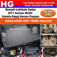 Renault Lattitude Sedan 2011 Sonrası Gri Bagaj Havuzu Paspası 39029
