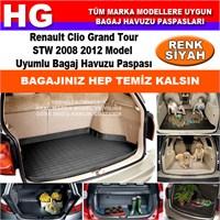 Clio Grand Tour Stw 2008 2012 Siyah Bagaj Havuzu Paspası 39057